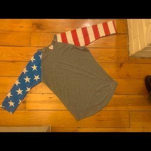 Lularoe USA shirt small